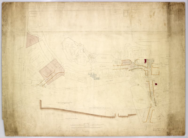 Plan of area South of Castle showing full extent of Western Approaches-Castle terrace, etc plus section of ground below George IV Bridge.