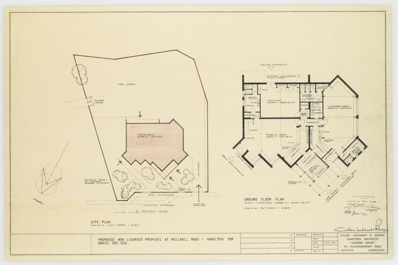 Site and floor plan of proposed licensed premises, Wellhall Road, Hamilton