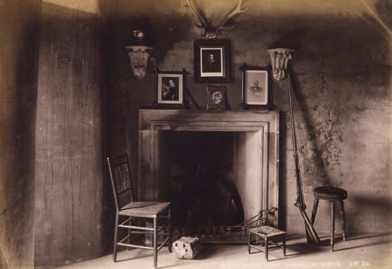 Edinburgh, Craigmillar Castle, interior view of Queen Mary's room.  Entitled: 'Queen Mary's Room, Craigmillar Castle, J.P.', no.36 PHOTOGRAPH ALBUM NO 195: PHOTOGRAPHS BY G W WILSON & CO., page 53.