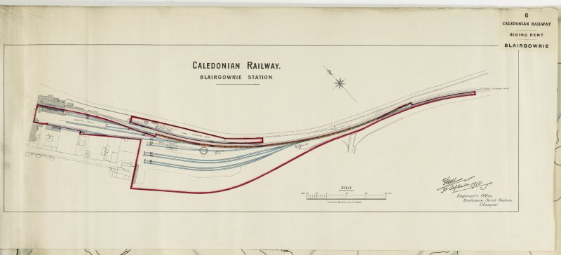 Plan of Blairgowrie Station.