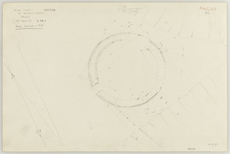 Plane-table survey; St Bride's Ring, settlement.