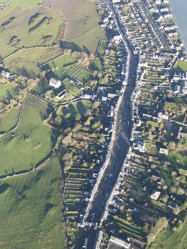 Oblique aerial view of Whithorn, looking NNE.