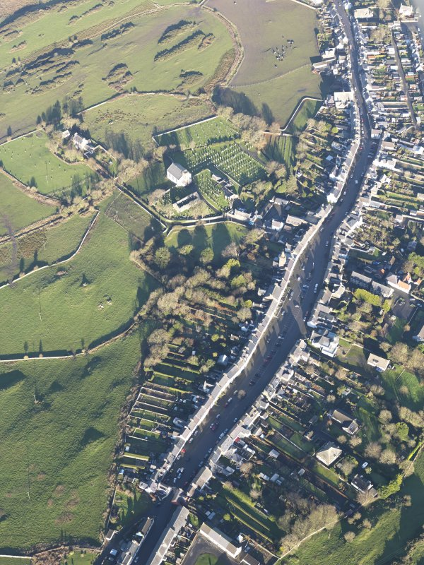 Oblique aerial view of Whithorn, looking N.