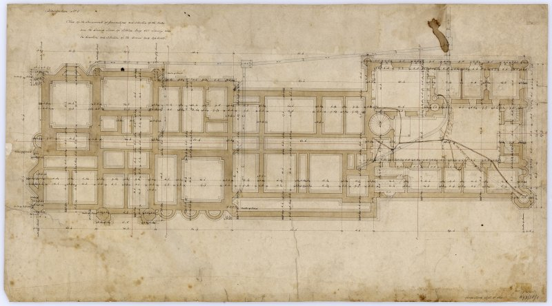 Drawing showing plan of foundations.