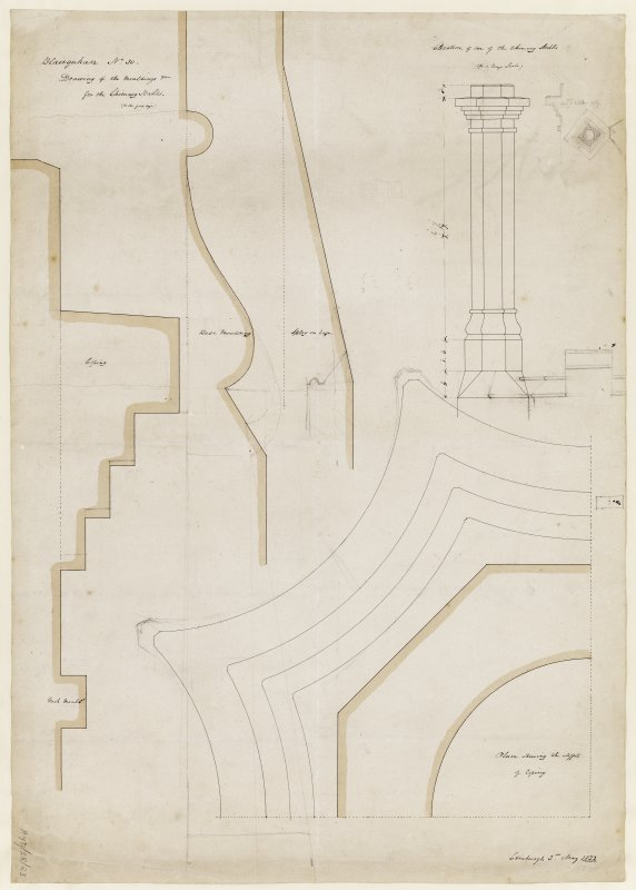 Drawing showing details of mouldings.