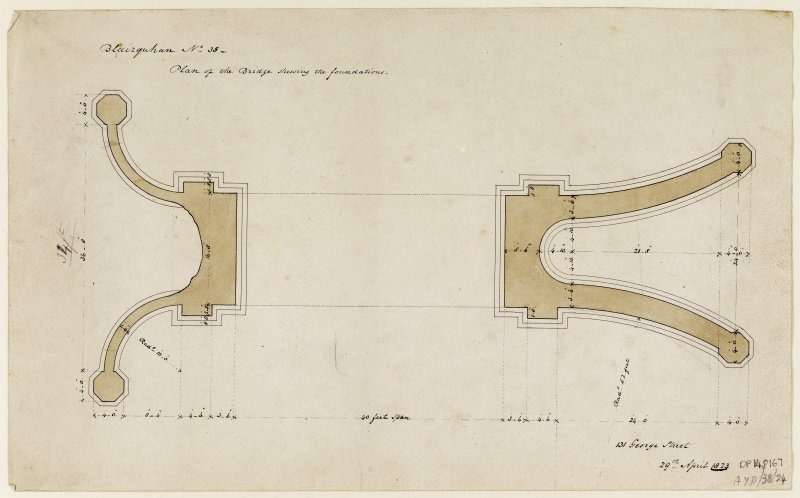Drawing showing plan of bridge.
