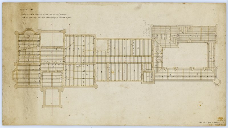 Drawing showing plan of principal building.