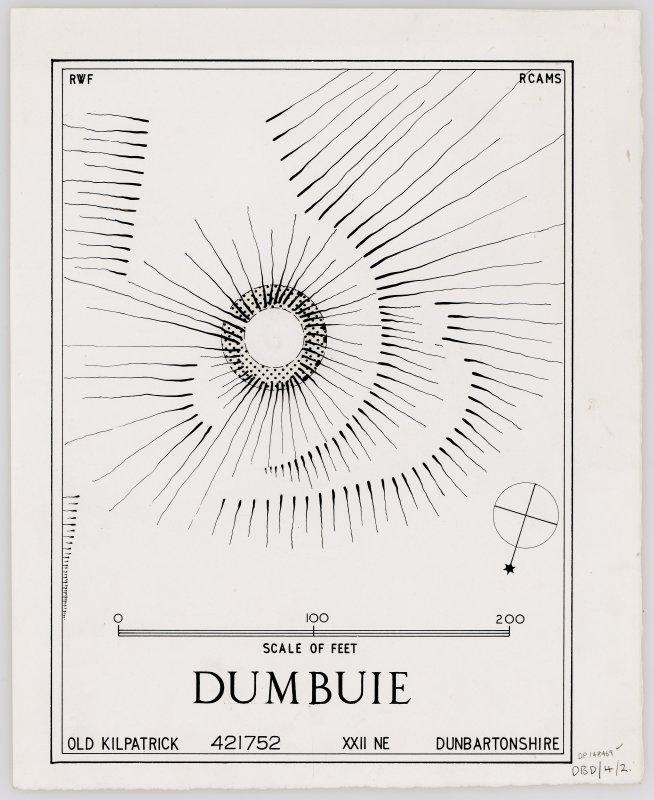 Inked plan: dun at Dumbuie.