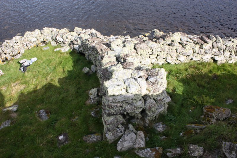 Externals wall to N of broch.