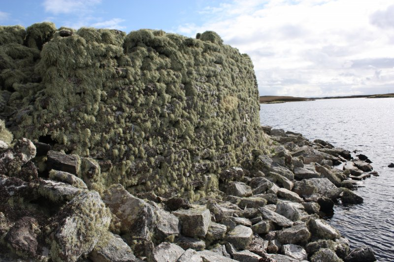 Broch wall at SW, taken from the NW.