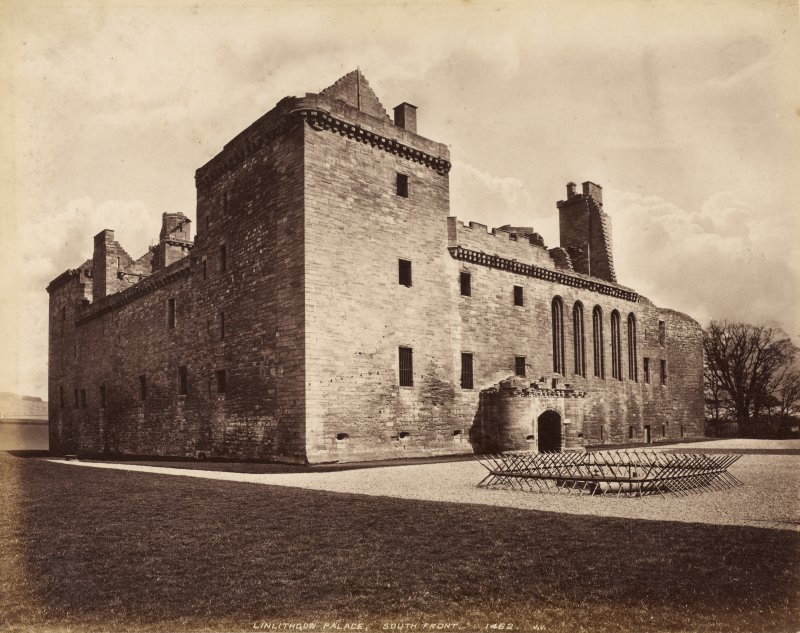 View of Linlithgow Palace, South Front, from south west