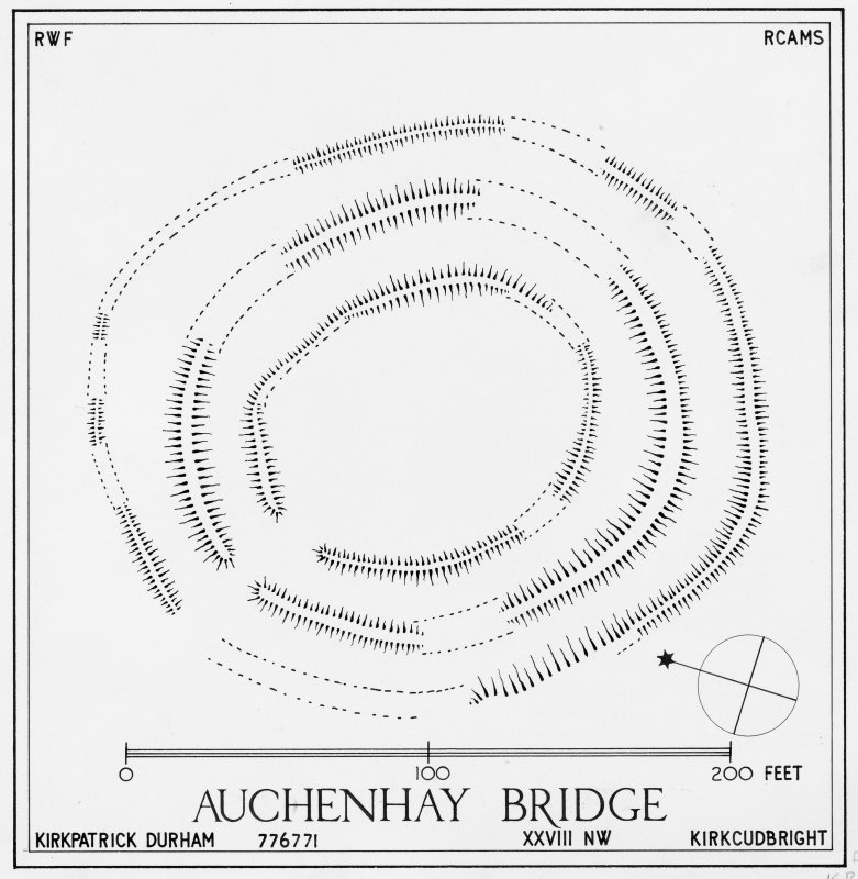 Inked plan (redrawn): Auchenhay Bridge.