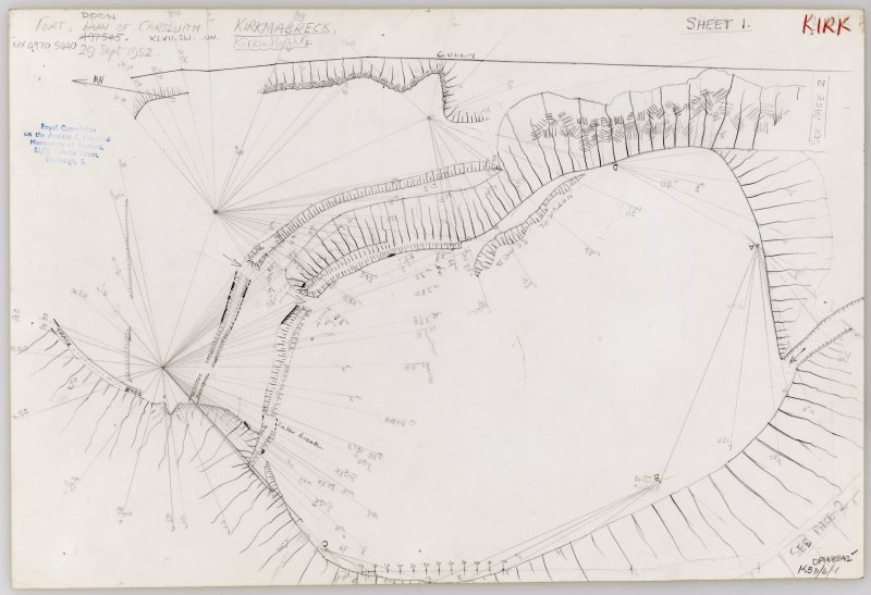 Plane-table survey (sheet 1 of 2): Doon of Carsluith.