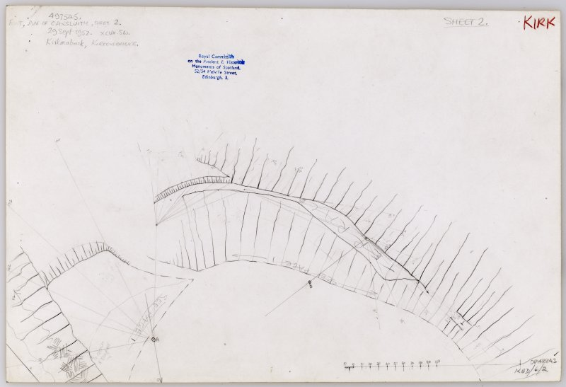Plane-table survey (sheet 2 of 2): Doon of Carlsuith.