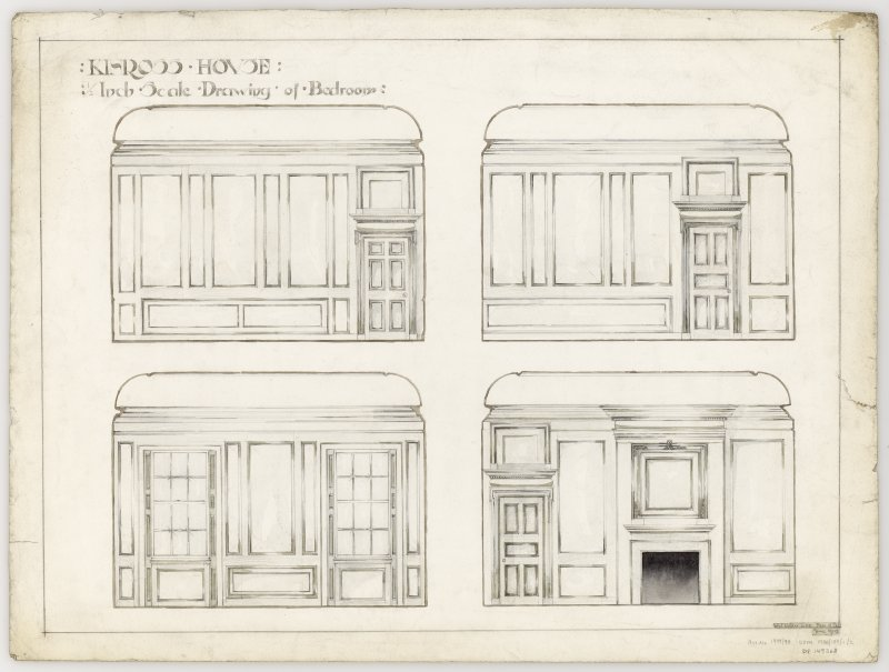 Student drawing showing detail of drawing room at Kinross House.