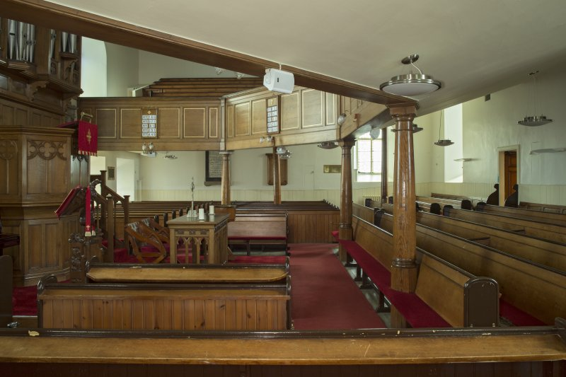 Interior. View looking straight across the worship space, taken from the east