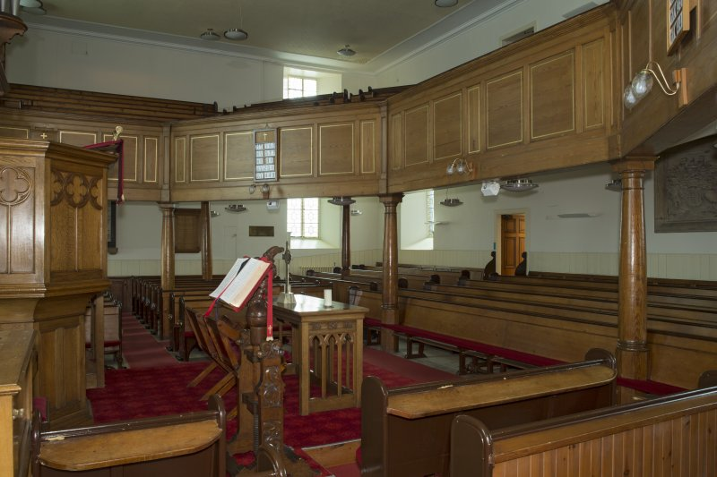 Interior. View looking across the main worship space towards the gallery, taken from the south east