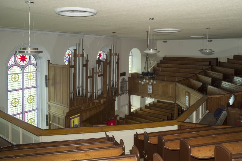 Interior. View looking across the main worship space, taken from the north east corner of the gallery