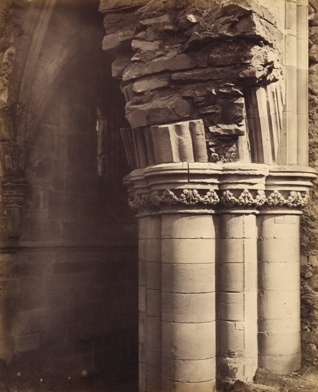 Detail of pier capital, Melrose Abbey.