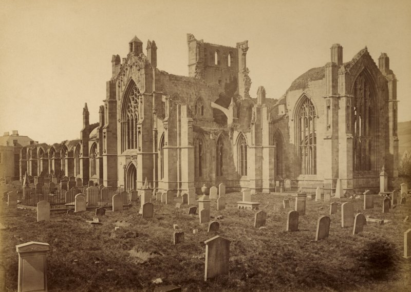 General view from south east, Melrose Abbey..
