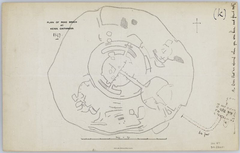 Plan of the Road broch, Keiss.