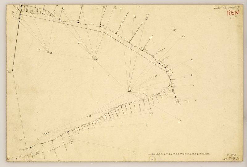 Plane table survey plan of fort at Walls Hill (3 of 3).