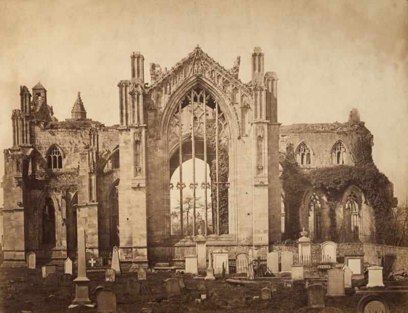 General view from east, Melrose Abbey.