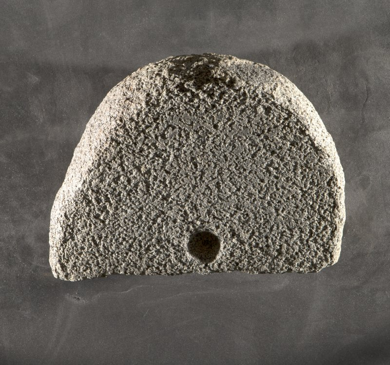Rotary quern fragment (H.S. no. KMD009) flash