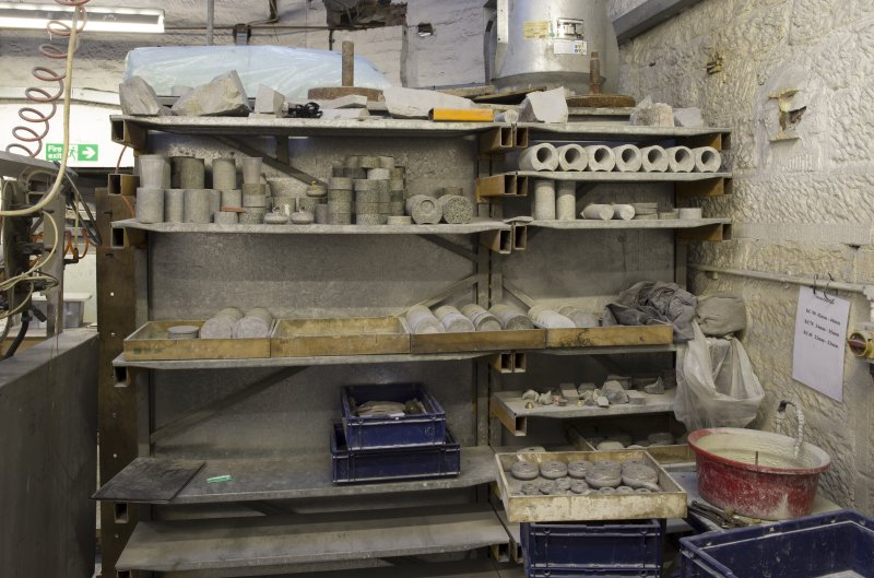 Interior. Former Turning Shop. Now Giftware. This section was built in 1949 and was originally an open courtyard area. Here we see storage for giftware.