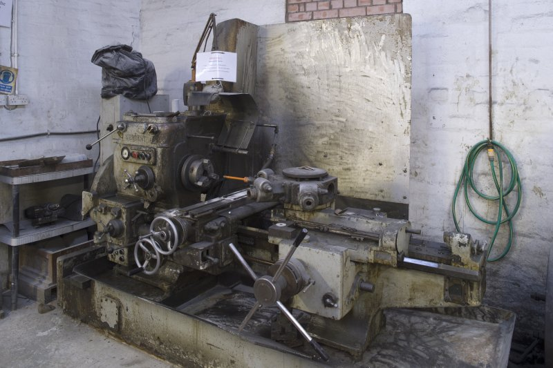 Interior. Former Turning Shop, now Giftware. Lathe no.7 cores the middle size giftware and undercuts large giftware.