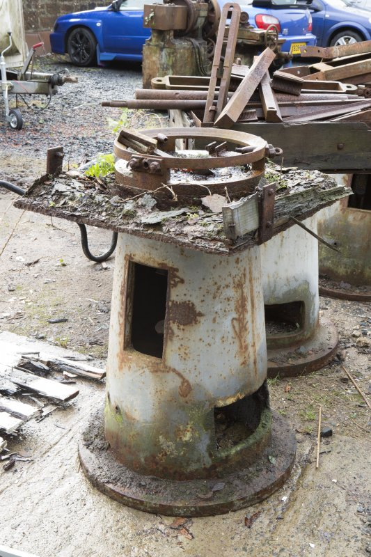 View of Curling Stone Polishing Machine. Now disused.