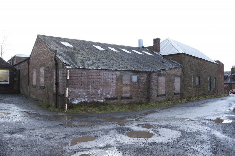 View from north east of 1949 Turning Shop (now Giftware), Toilets, Canteen and Rough Out Shed (hipped roof).