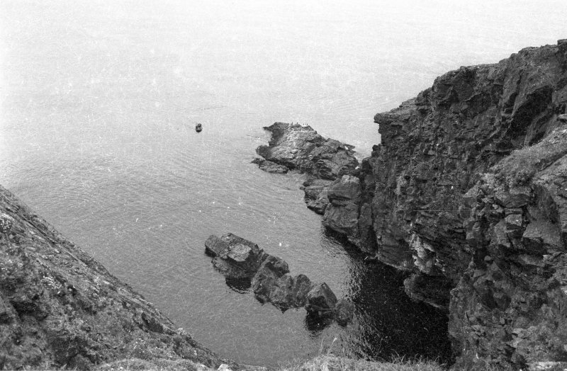 The expedition boat over the wreck-site (1970).
