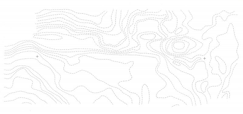 Contour overlay for the Duart Point wreck-site. Contours are at 10-cm intervals. See DPline004 for contour value.