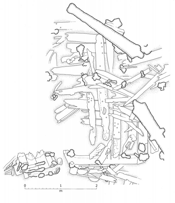 Plan of excavated area no.4, Duart Point shipwreck.