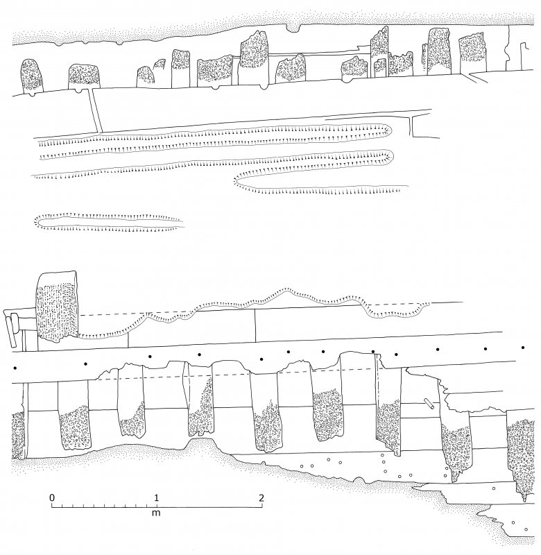 Plan of excavated area no.6, Duart Point shipwreck.