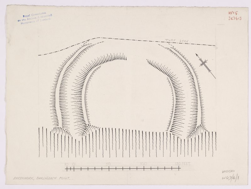 RCAHMS Marginal Land Survey inked plan,