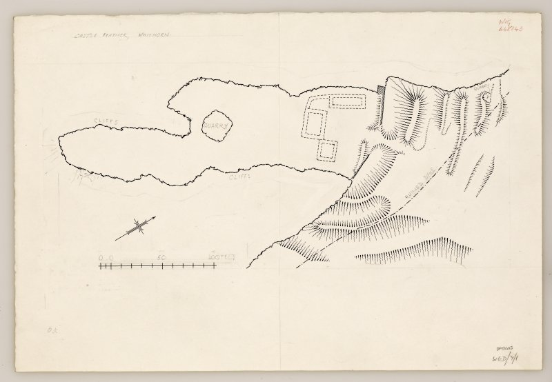 RCAHMS Marginal Land Survey inked drawing,