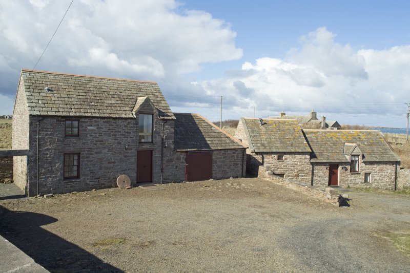 View of the stable and small mill building, taken from the east.