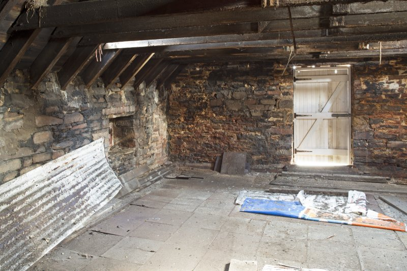 Interior. View looking into kiln drying floor from access doors at second floor level.
