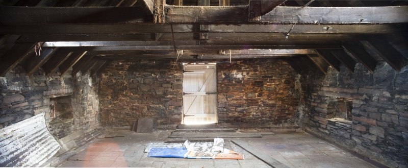 Interior second floor. General view of second floor area through to east end of building.