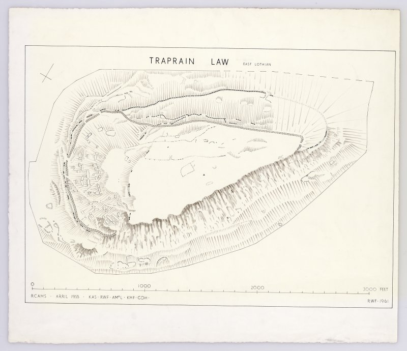 Plan of Traprain Law