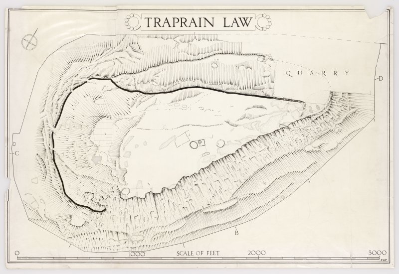 Publication drawing: fort at Traprain Law.
