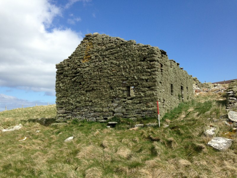 Main building at Tafts, Rousay, SW gable.