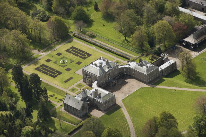 Oblique aerial view of Haddo House, looking to the SSE.