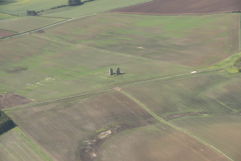 General oblique aerial view of Fedderate Castle, looking to the SW.