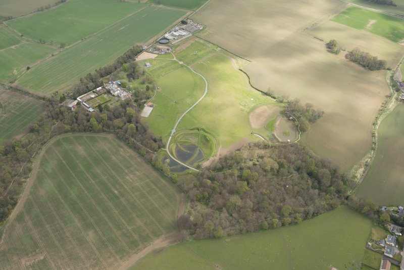 Oblique aerial view of Bonnington House Estate, looking to the NE.