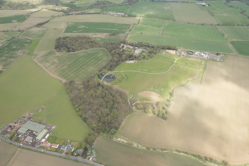 Oblique aerial view of Bonnington House Estate, looking to the N.