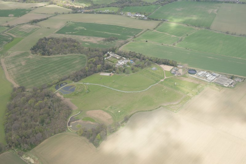 Oblique aerial view of Bonnington House Estate, looking to the WNW.