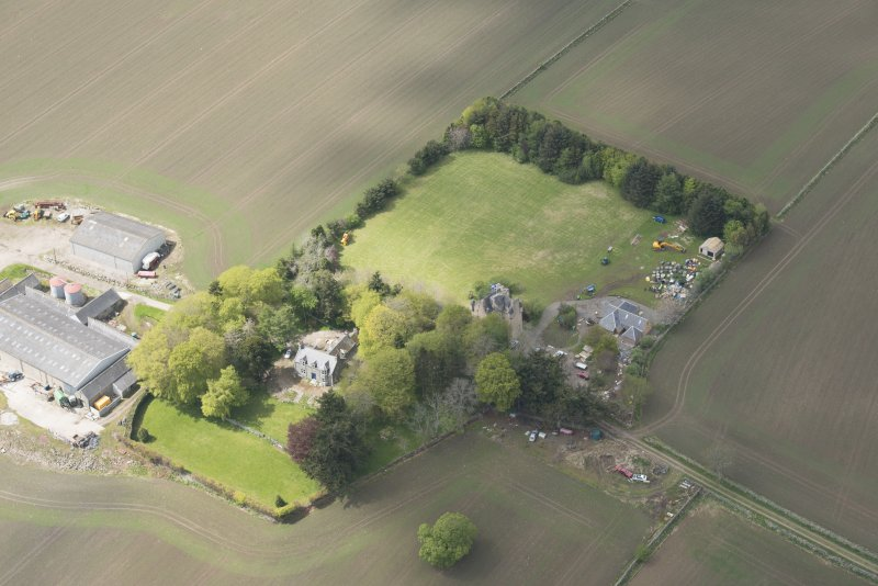 Oblique aerial view of Tillycairn House, looking to the WNW.